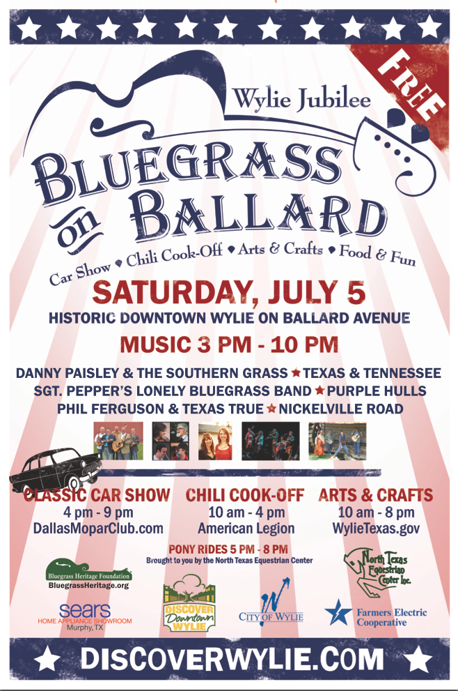 Bluegrass on Ballard Poster 2014