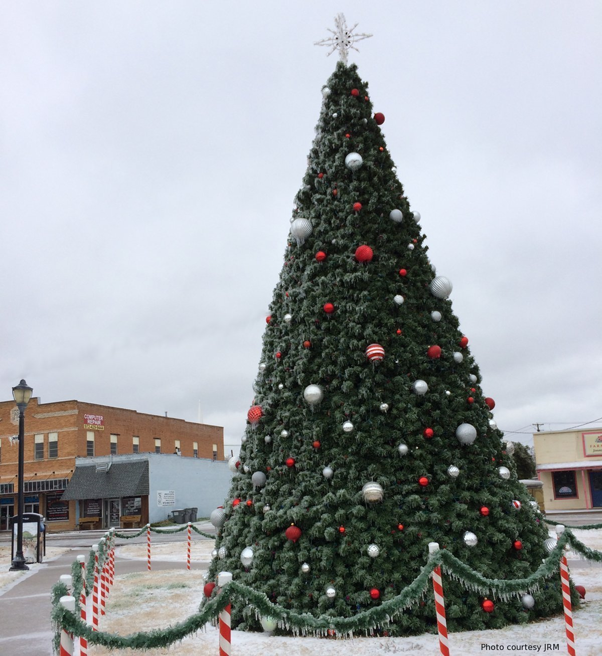 City of Wylie Christmas tree in Olde City Park